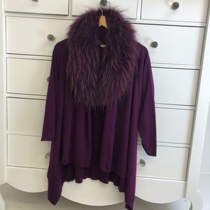 Alice and Olivia sweater with fur collar